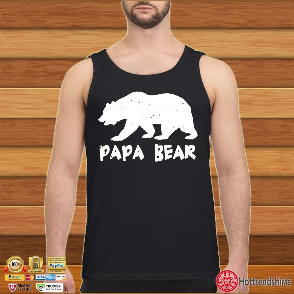 Papa Bear Funny Matching Shirt Tank top den