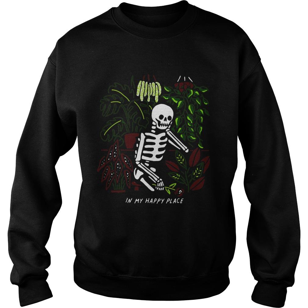 Skull My Happy Place  Sweatshirt