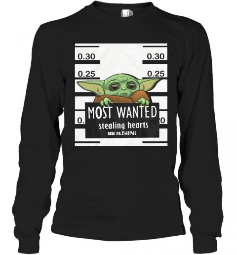 Star Wars Baby Yoda Most Wanted Stealing Hearts T-Shirt ...