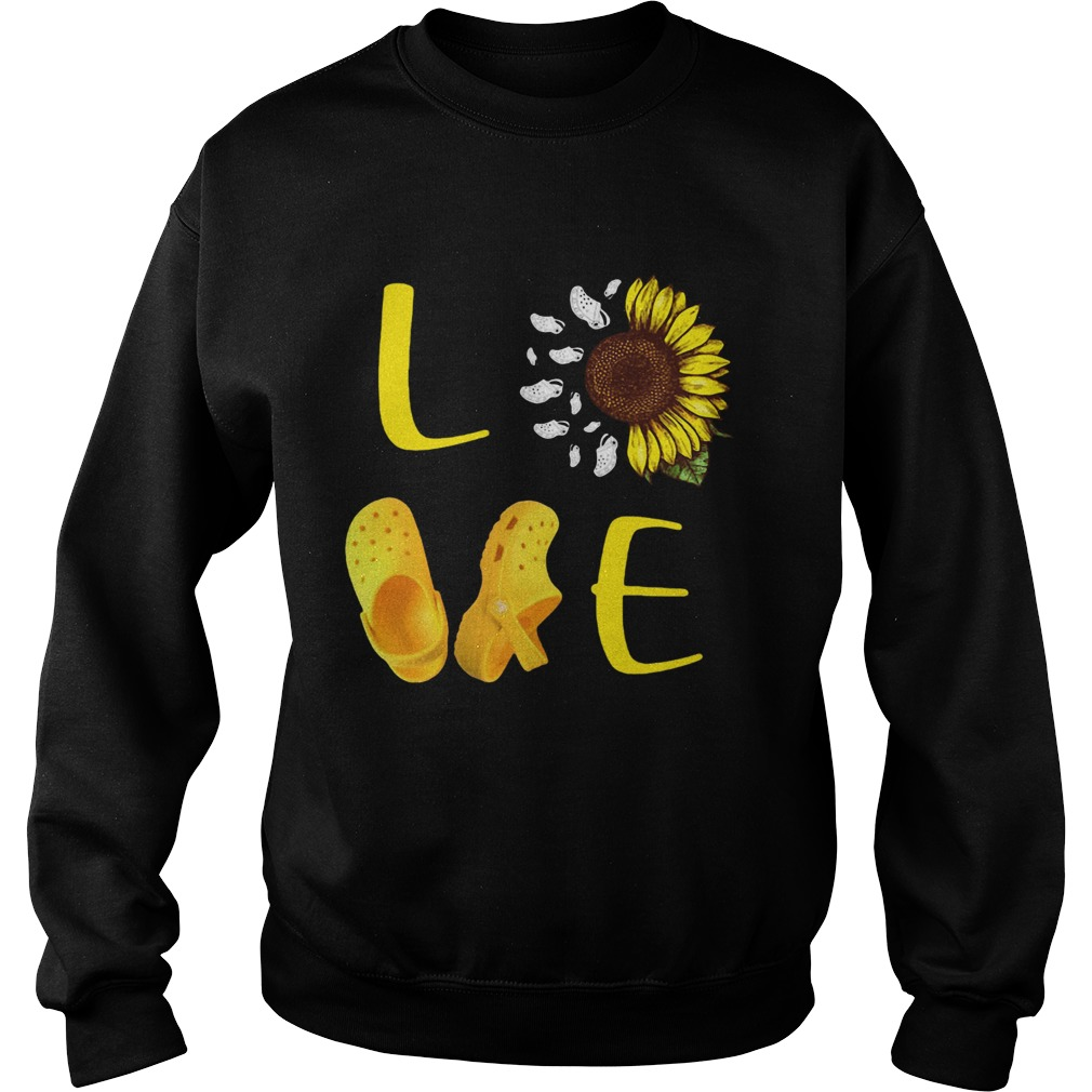 Sunflower Love Croc  Sweatshirt