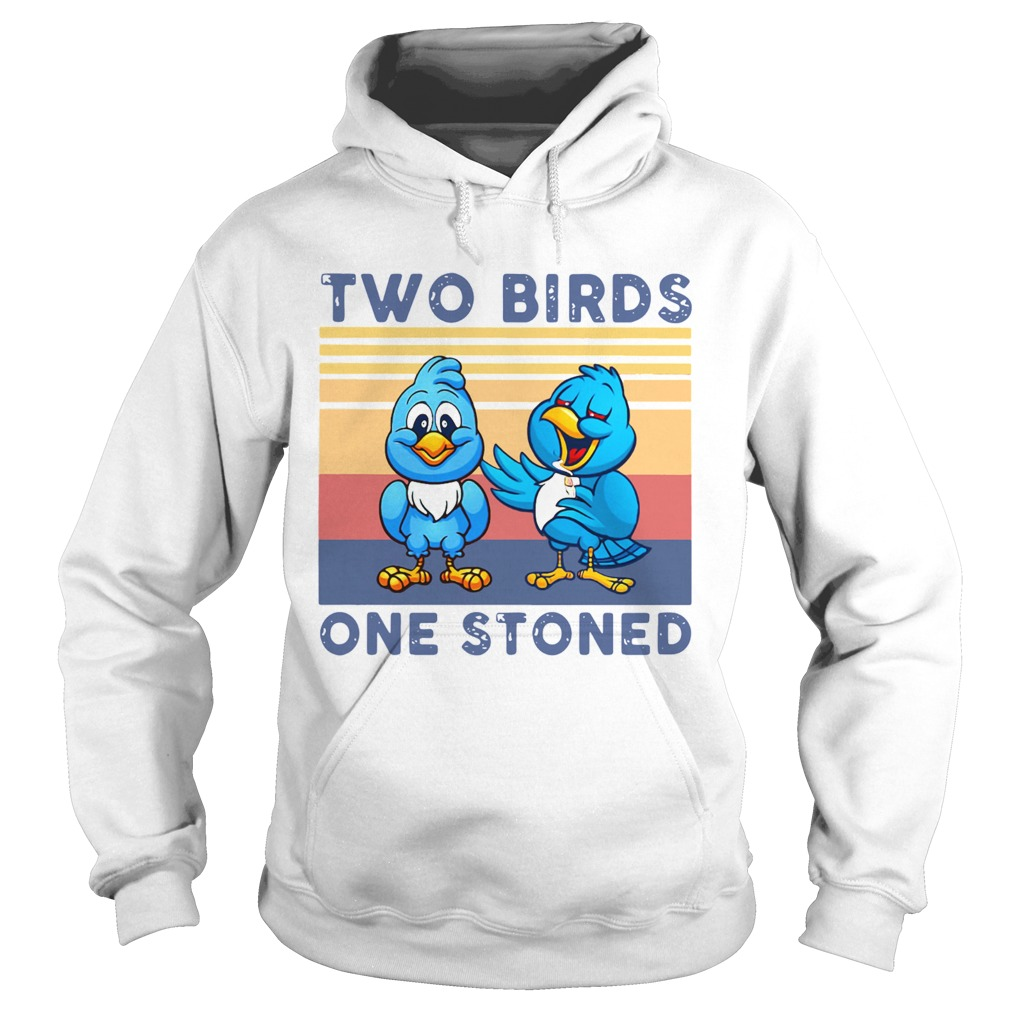 Two Birds One Stoned Vintage  Hoodie