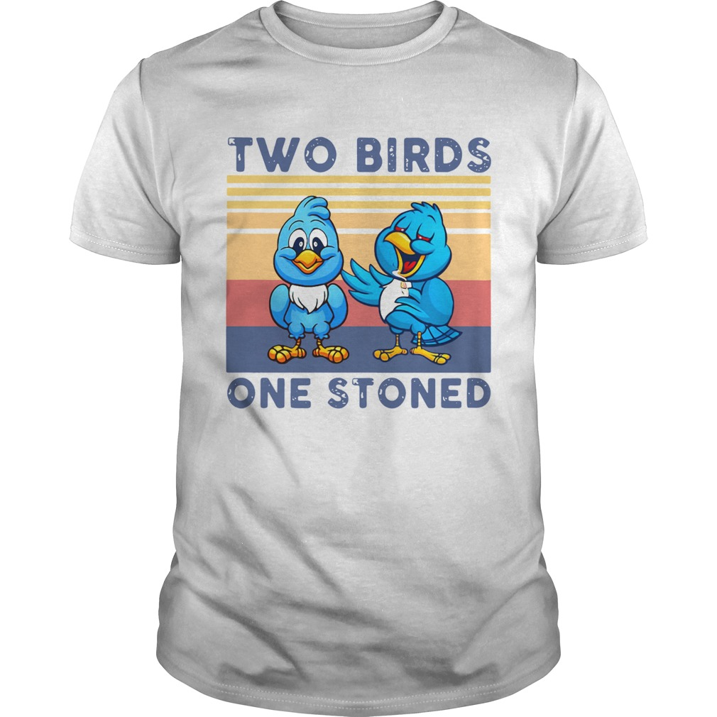 Two Birds One Stoned Vintage  Unisex