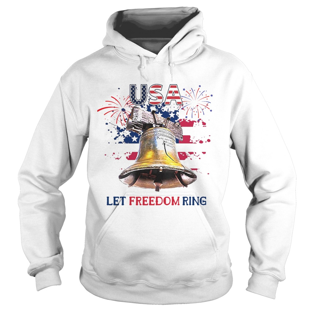 USA Let Freedom Ring 4th Of July American Flag  Hoodie