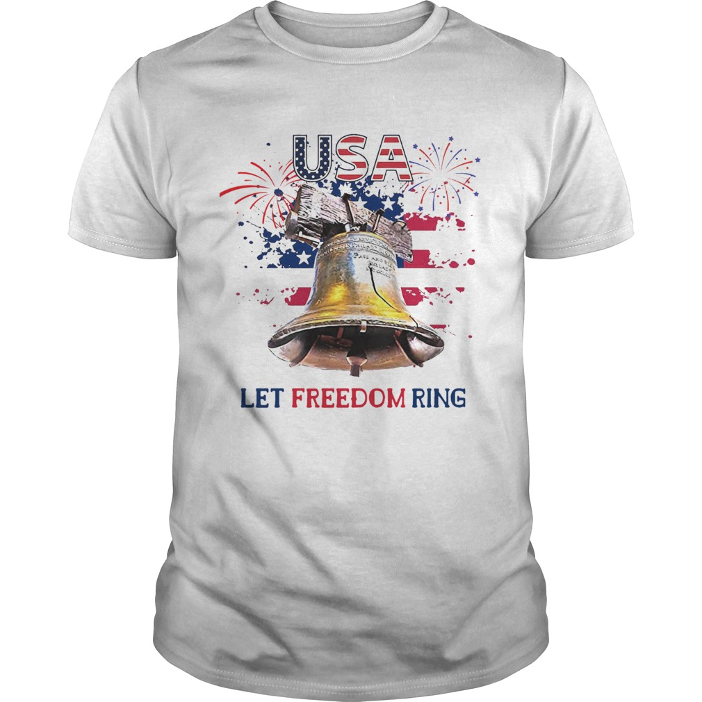 USA Let Freedom Ring 4th Of July American Flag  Unisex
