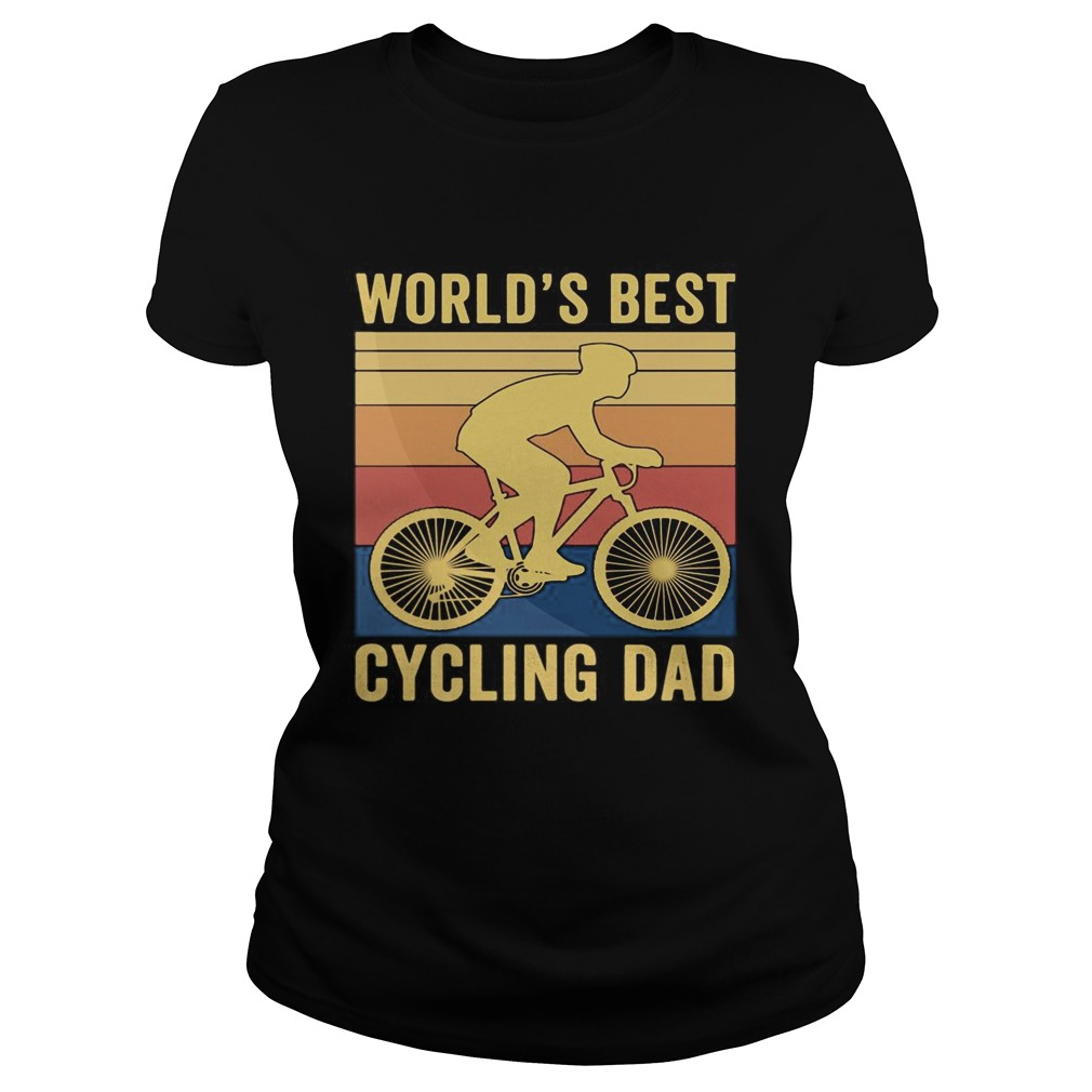 Worlds best cycling dad vintage retro  Classic Ladies