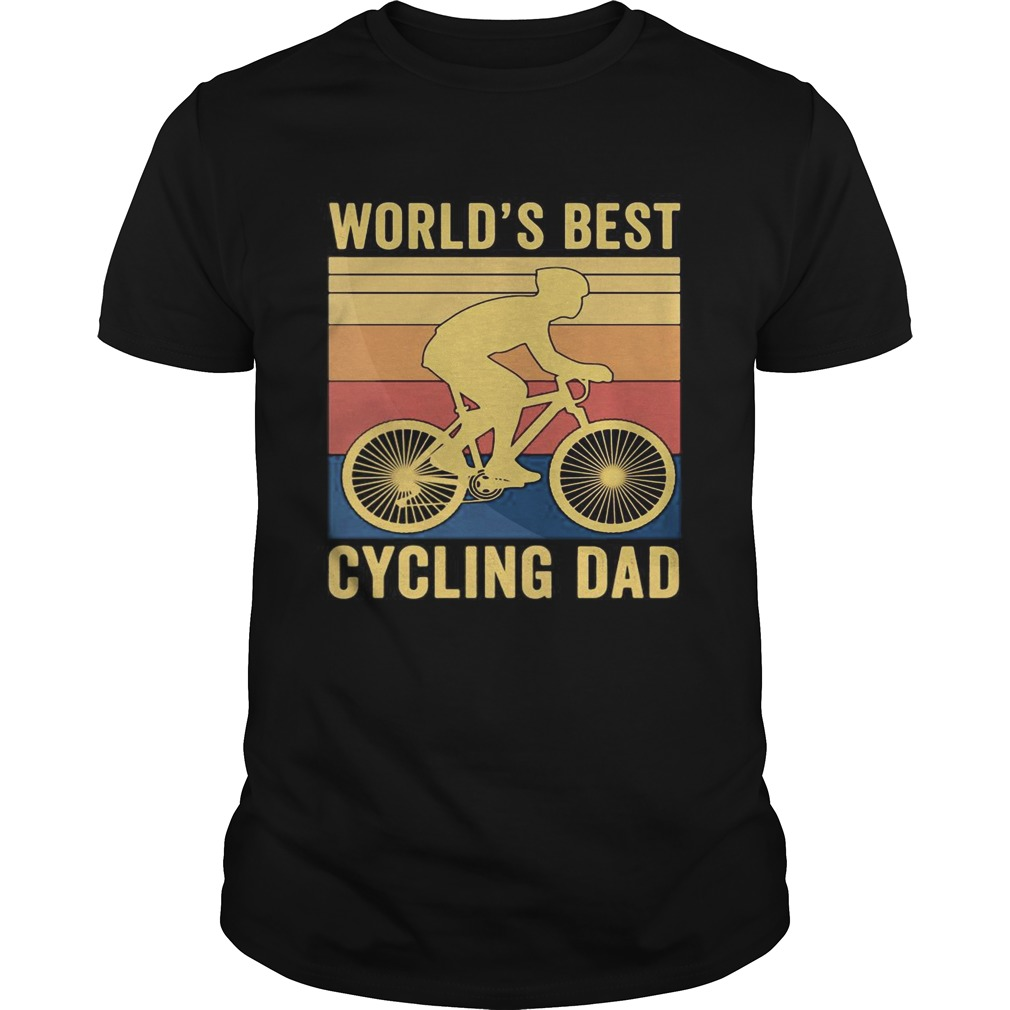 Worlds best cycling dad vintage retro  Unisex