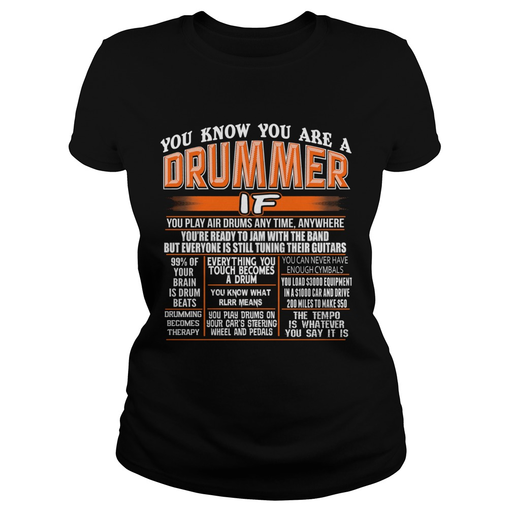 You know you are a drummer if you play air drums any time anywhere  Classic Ladies