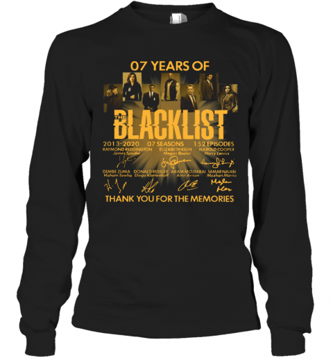 07 Years Of The Blacklist T-Shirt Long Sleeved T-shirt