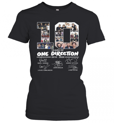 10 Years Of One Direction 2010 2020 Signature T-Shirt Classic Women's T-shirt