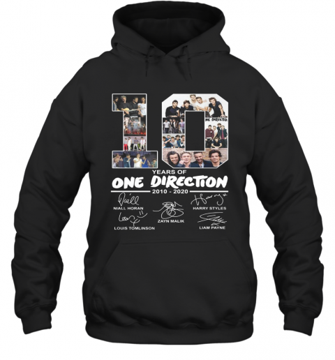 10 Years Of One Direction 2010 2020 Signature T-Shirt Unisex Hoodie