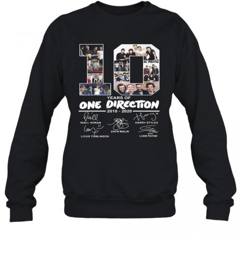 10 Years Of One Direction 2010 2020 Signature T-Shirt Unisex Sweatshirt