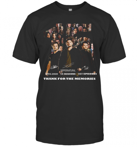 15 Years Of Supernatural Thank You For The Memories T-Shirt Classic Men's T-shirt