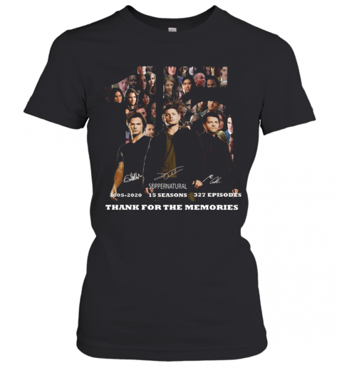 15 Years Of Supernatural Thank You For The Memories T-Shirt Classic Women's T-shirt
