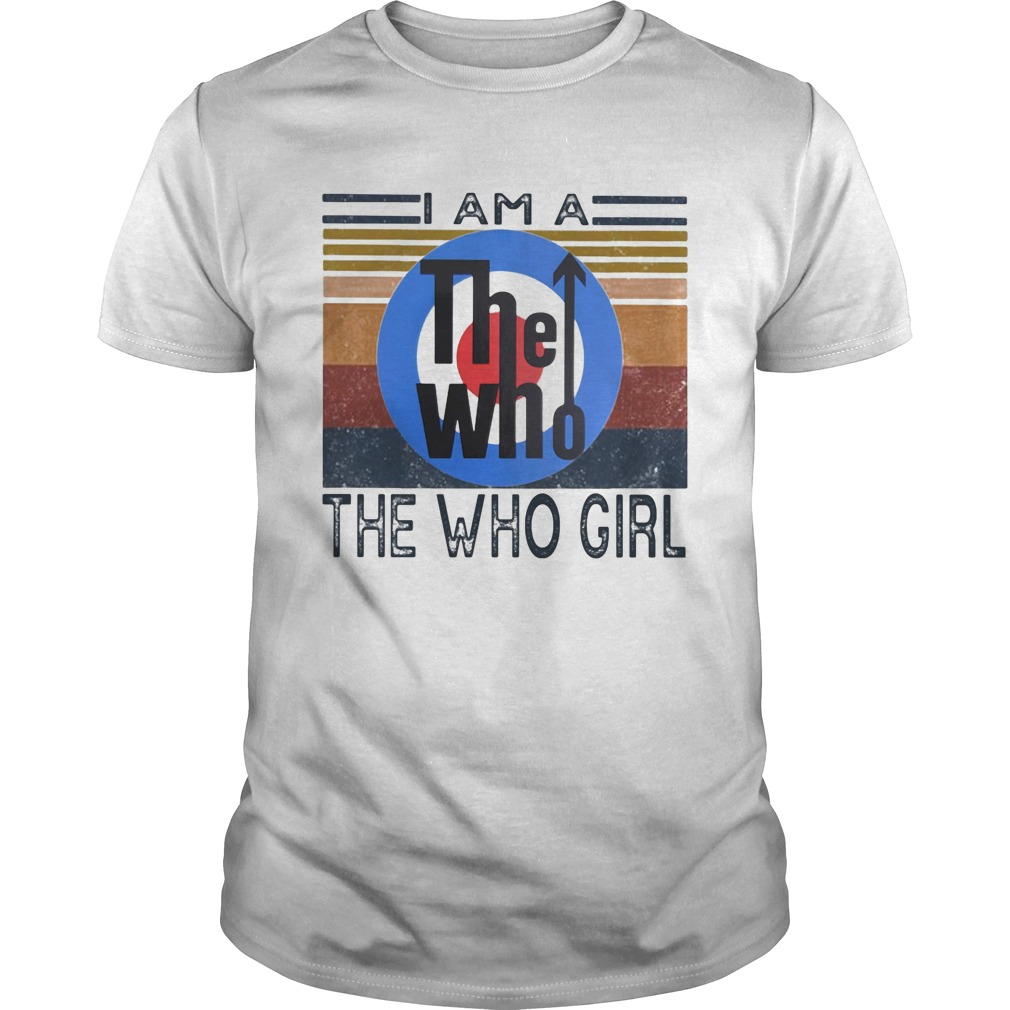 1594975005I am a the who girl vintage retro  Unisex