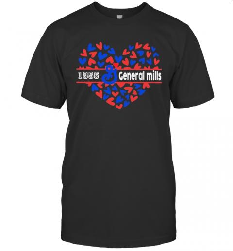 1856 General Mills Logo Hearts T-Shirt Classic Men's T-shirt