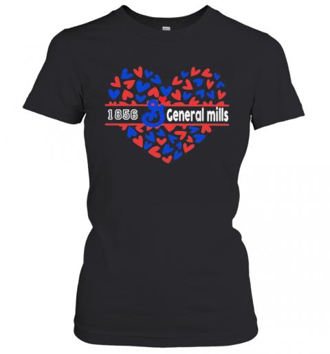 1856 General Mills Logo Hearts T-Shirt Classic Women's T-shirt