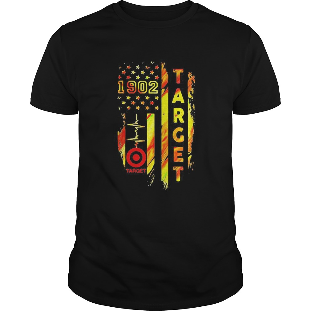 1902 target heartbeat america flag independence day  Unisex