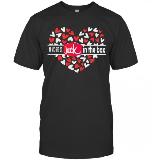 1951 Jack In The Box Logo Hearts T-Shirt Classic Men's T-shirt