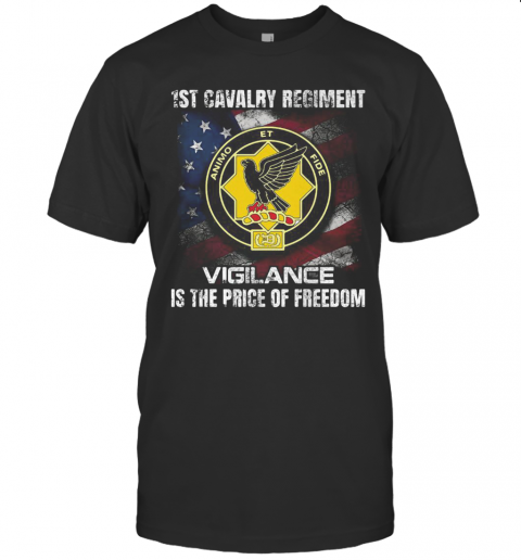 1St Cavalry Regiment Vigilance Is The Price Of Freedom American Flag Independence Day T-Shirt Classic Men's T-shirt