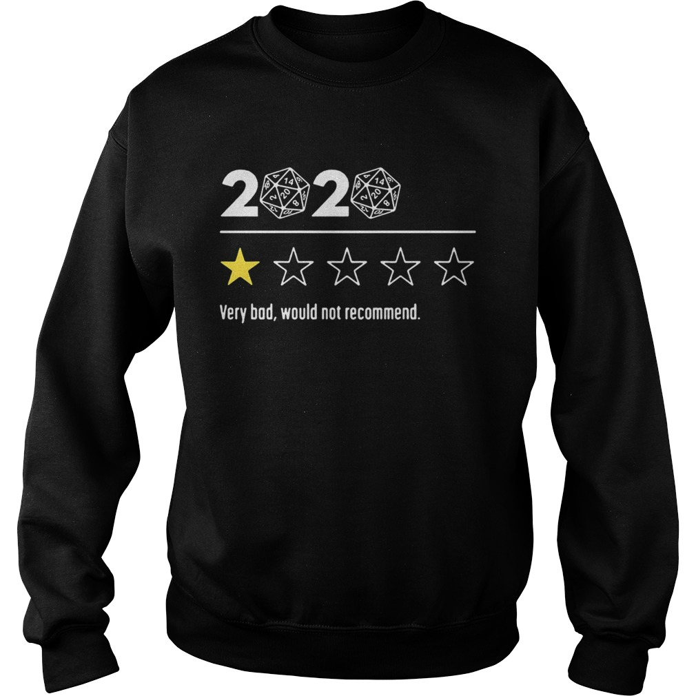 2020 Dungeons and Dragons Dice d20 very bad would not recommend  Sweatshirt
