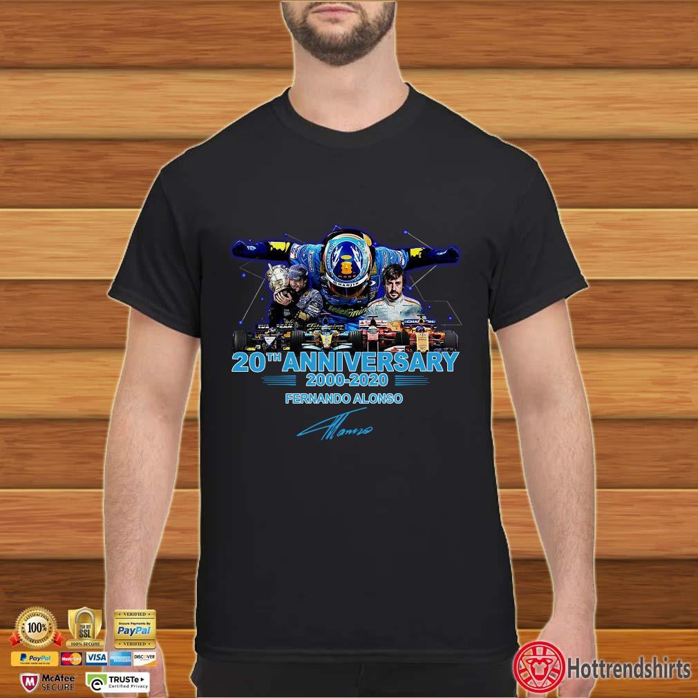 20th Anniversary 200 2020 Fernando Alonso Signature Shirt