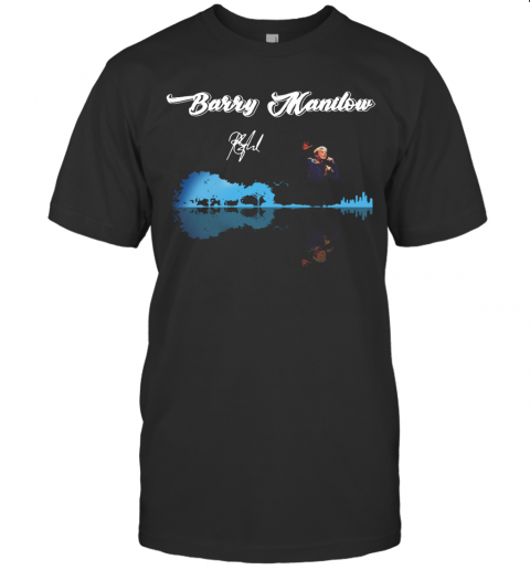 Barry Manilow Guitar Ưater Reflection T-Shirt Classic Men's T-shirt