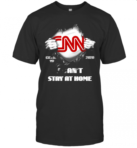 Blood Insides CNN Covid 19 2020 I Can'T Stay At Home T-Shirt Classic Men's T-shirt