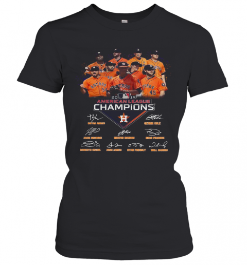 Houston Astros 2019 American League Champions Signature T-Shirt Classic Women's T-shirt
