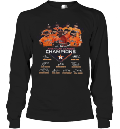 Houston Astros 2019 American League Champions Signature T-Shirt Long Sleeved T-shirt