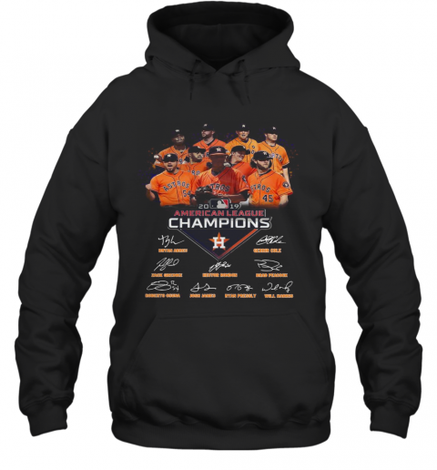 Houston Astros 2019 American League Champions Signature T-Shirt Unisex Hoodie