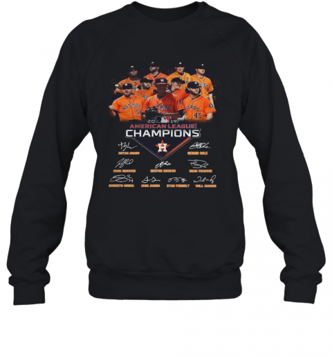 Houston Astros 2019 American League Champions Signature T-Shirt Unisex Sweatshirt