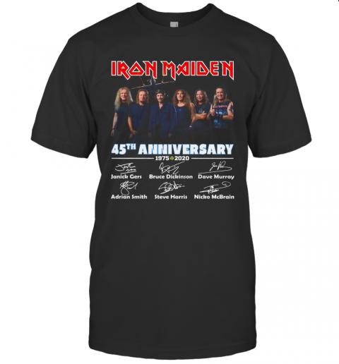 Iron Maiden 45Th Anniversary 1975 2020 Thank You The Memories T-Shirt Classic Men's T-shirt