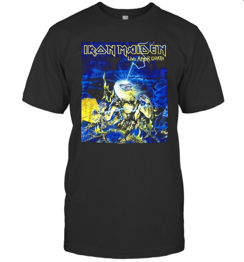 Iron Maiden Skeleton Live After Death T-Shirt Classic Men's T-shirt