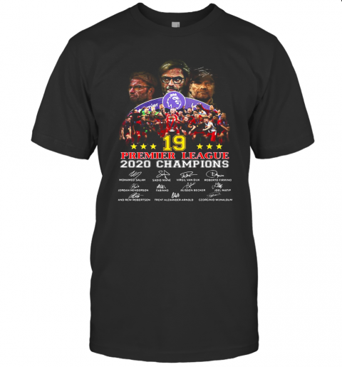 Liverpool FC 19 Premier League 2020 Champions Signatures T-Shirt Classic Men's T-shirt