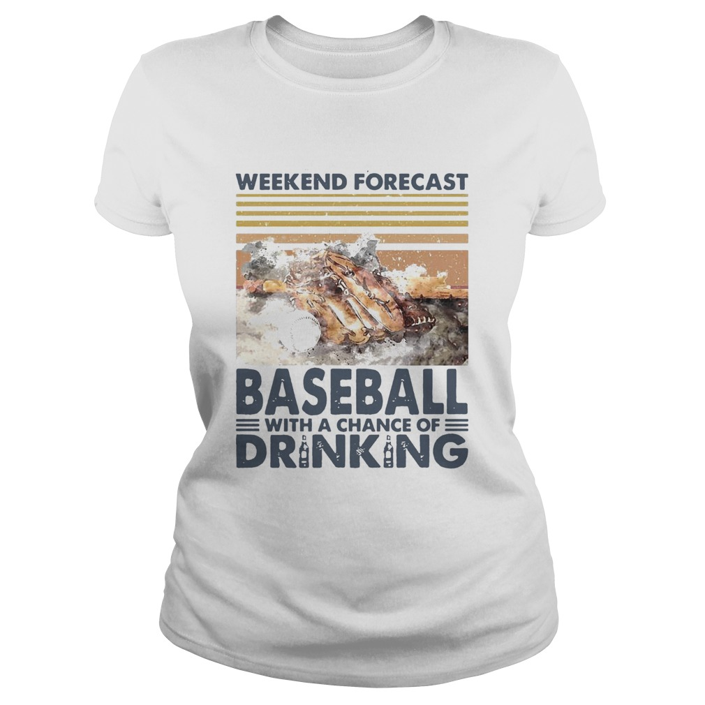 Weekend Forecast Baseball With A Chance Of Drinking Vintage  Classic Ladies