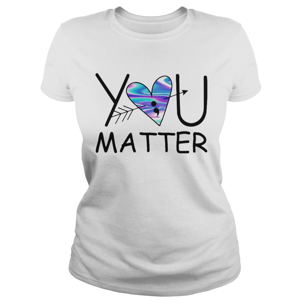 You matter heart blue pfeil  Classic Ladies