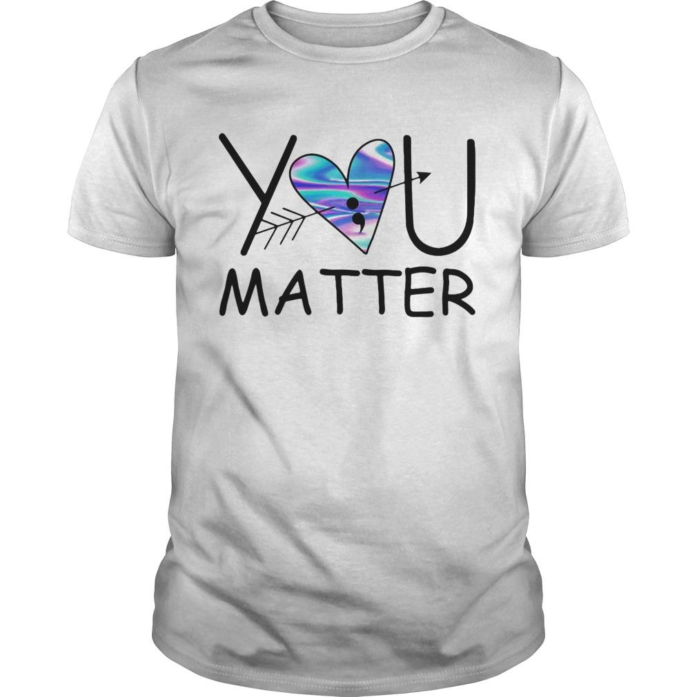 You matter heart blue pfeil  Unisex