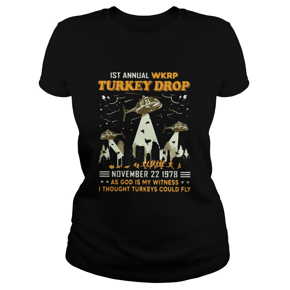 1st Annual Wkrp Turkey Drop November 22 1978 As God Is My Witness I Thought Turkeys Could Fly  Classic Ladies