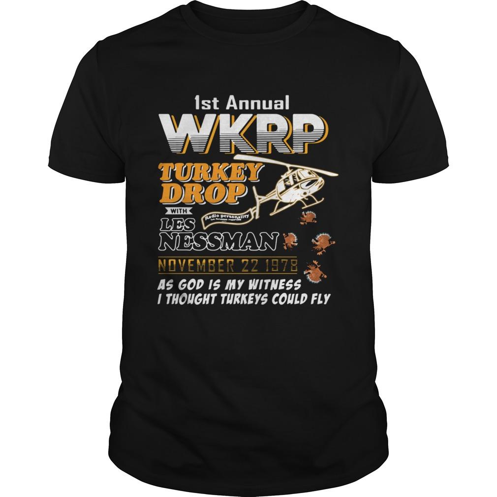 1st annual wkrp turkey drop with Les Nessman November 22 1978  Unisex