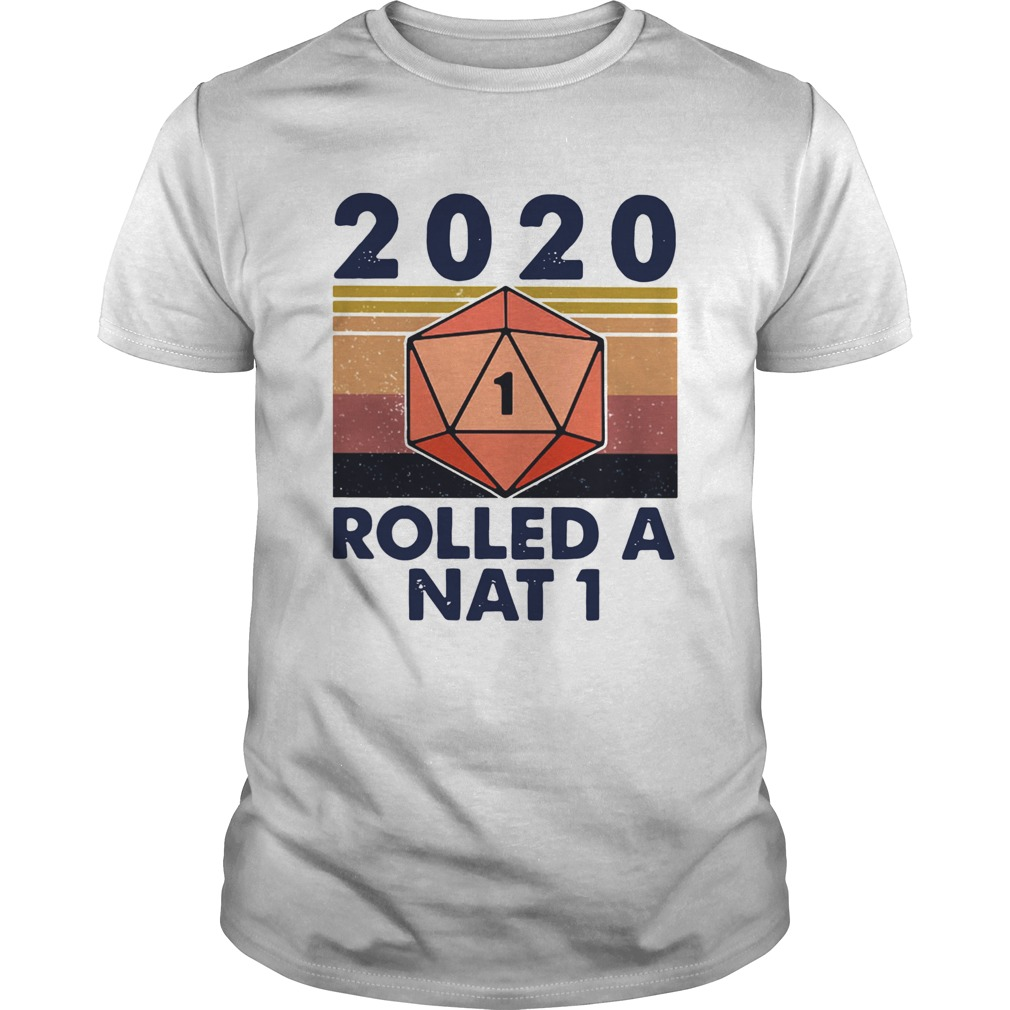 2020 Rolled A Nat 1 Black Lives Matter Vintage Retro  Unisex