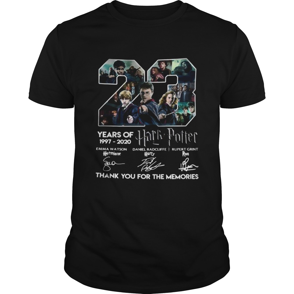 23 years of 1997 2020 harry potter thank you for the memories signatures  Unisex