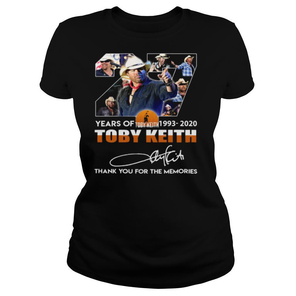 27 Years Of Toby Keith 1993 2020 Thank You For The Memories Signature shirt