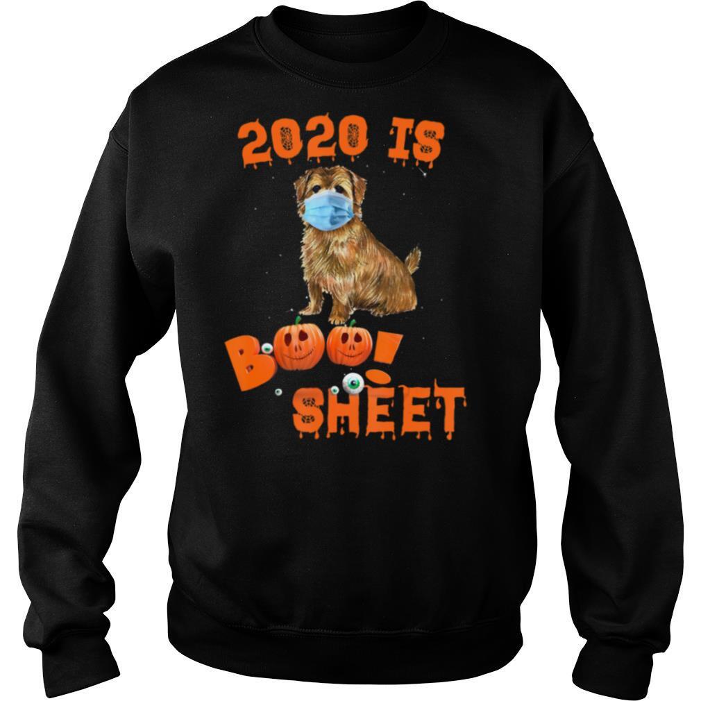 2020 Is Boo Sheet Halloween Norfolk Terrier Dog Wear Mask shirt