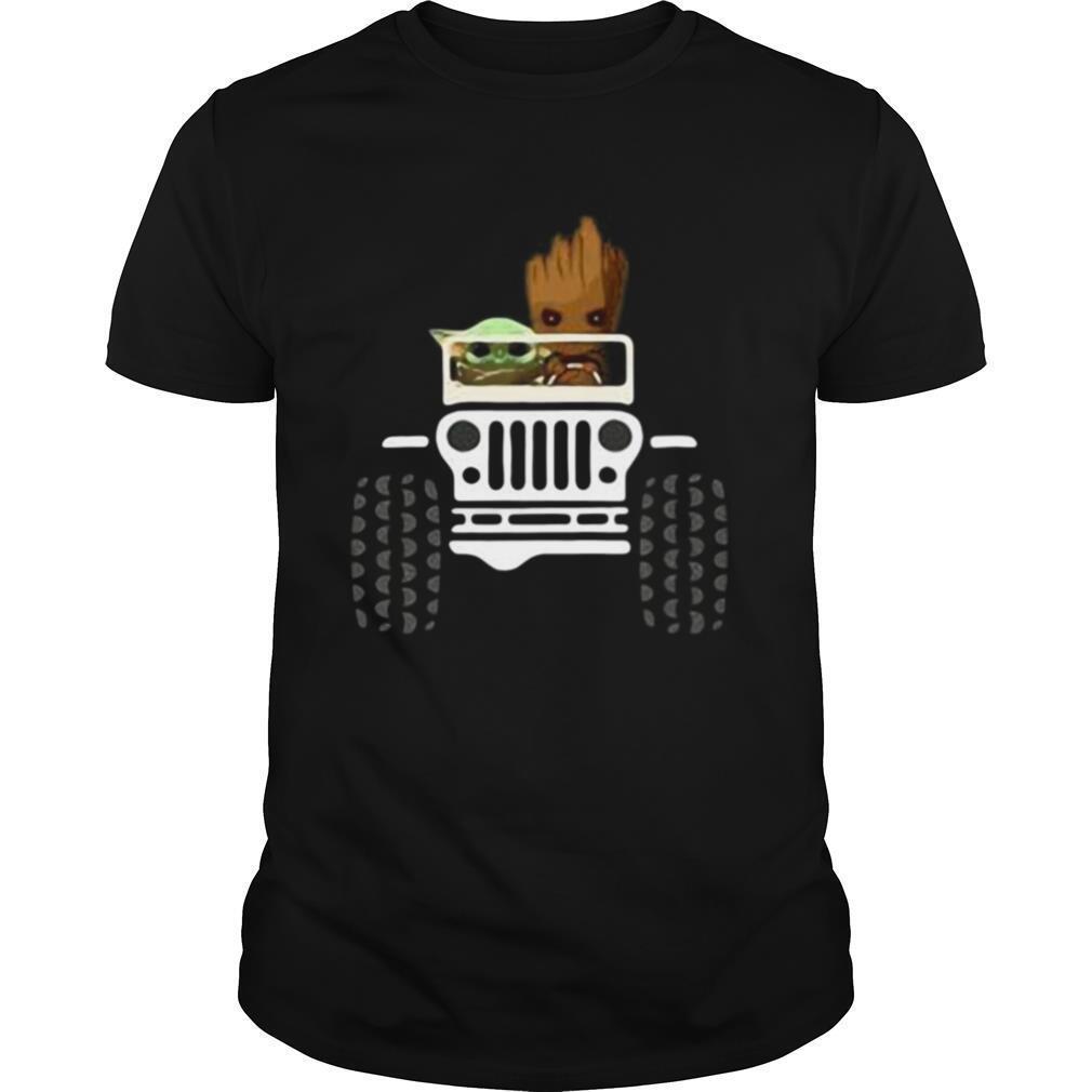 Baby Yoda And Baby Groot Jeep shirt