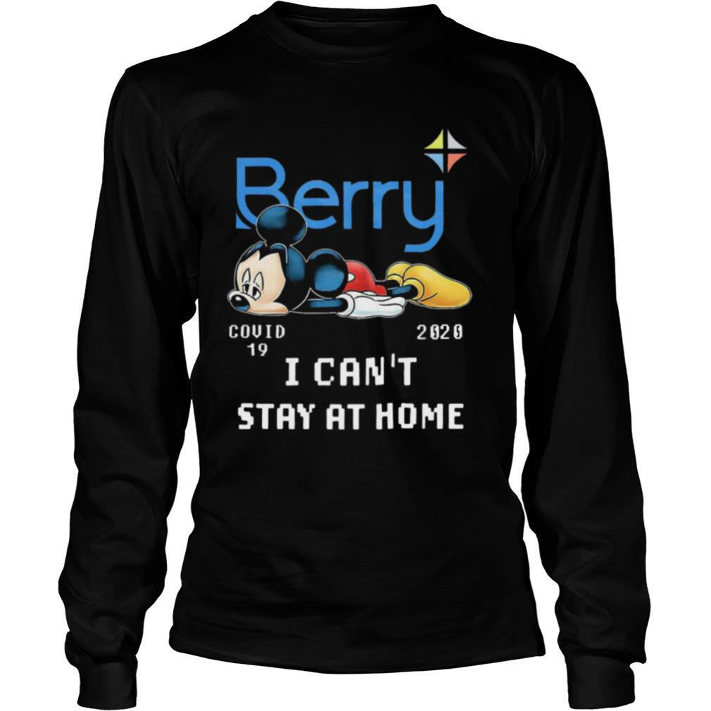 Berry Mickey Mouse Covid 19 2020 I Cant Stay At Home shirt