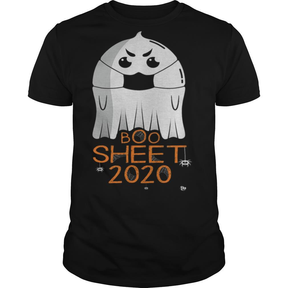 Halloween 2020 Costume Ghost With Mask 2020 Is Boo Sheet shirt
