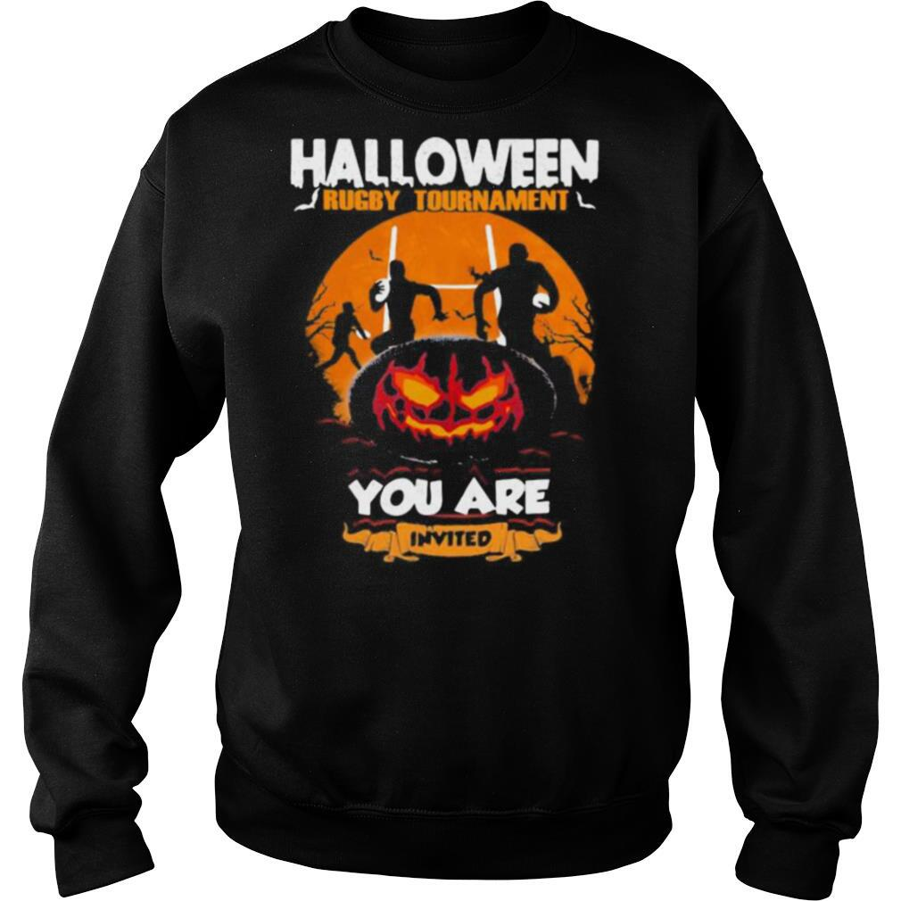 Halloween Rugby Tournament You Are Invited Pumpkin Moon shirt