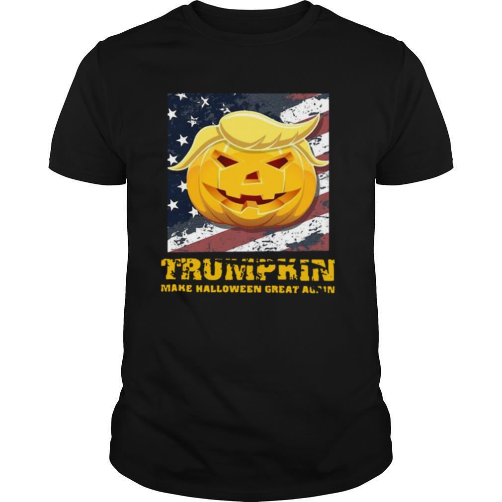 Pumpkin Make Halloween Great Again American Flag Halloween shirt