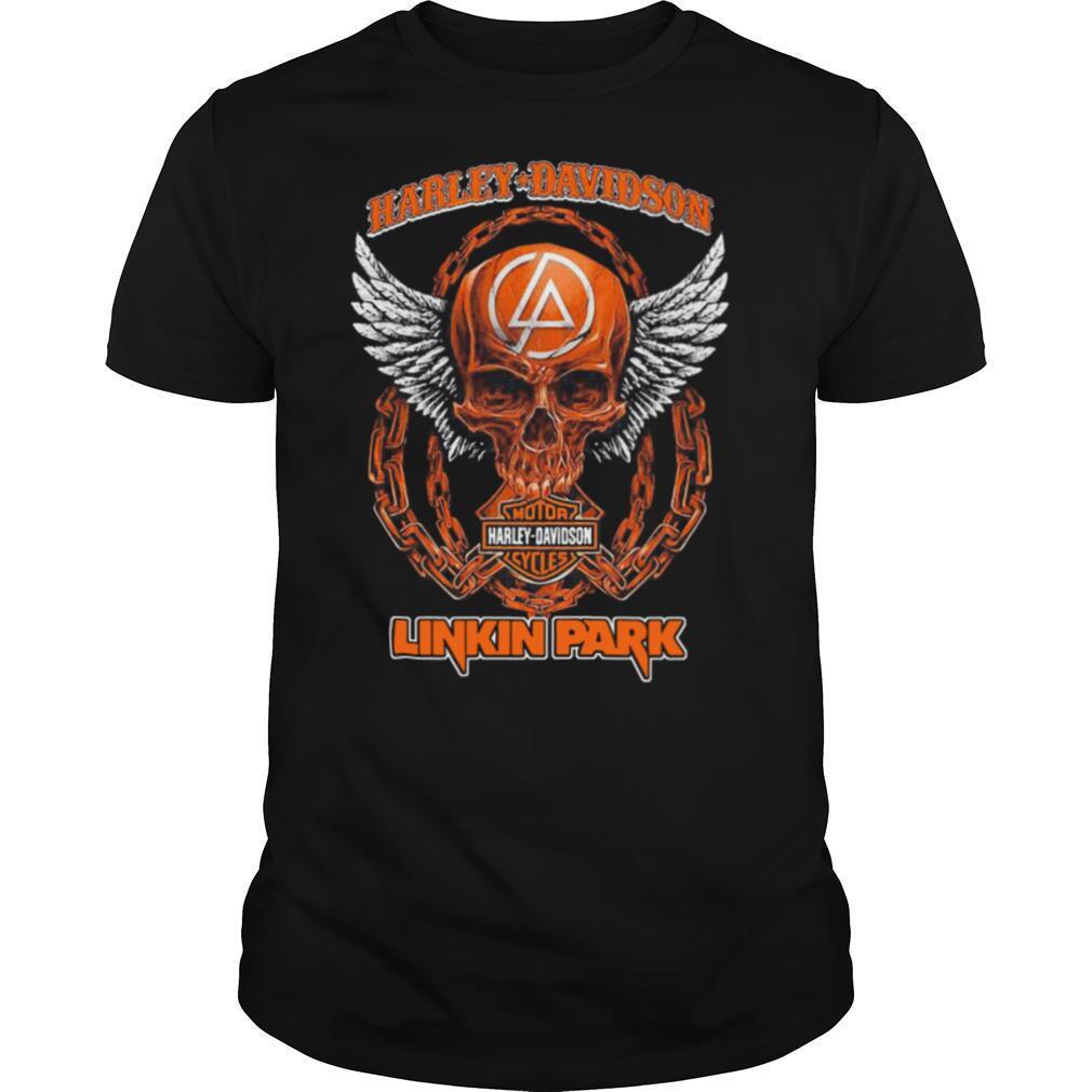 Skull Motor Harley Davidson Cycles Linkin Park shirt