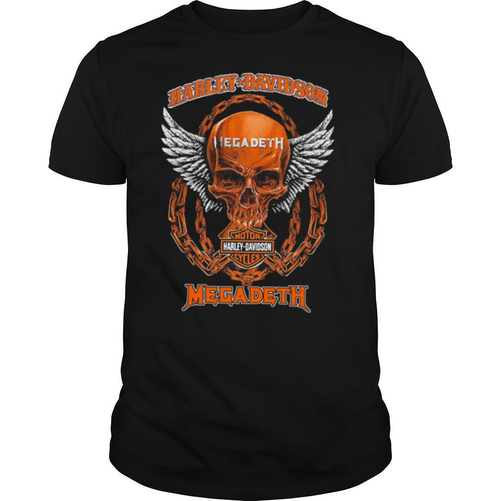 Skull Motor Harley Davidson Cycles Megadeth shirt